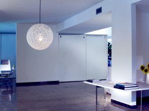 Gietvloer in een woon en werk ruimte